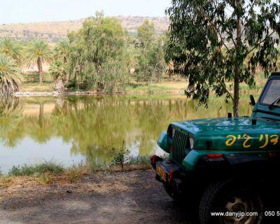 טיול ג'יפים בין מעברי מים לאורך הירדן